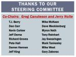 thanks to our steering committee