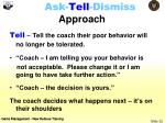 ask tell dismiss approach1