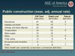 public construction seas adj annual rate