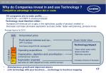 why do companies invest in and use technology competitive advantage to reduce risk or costs