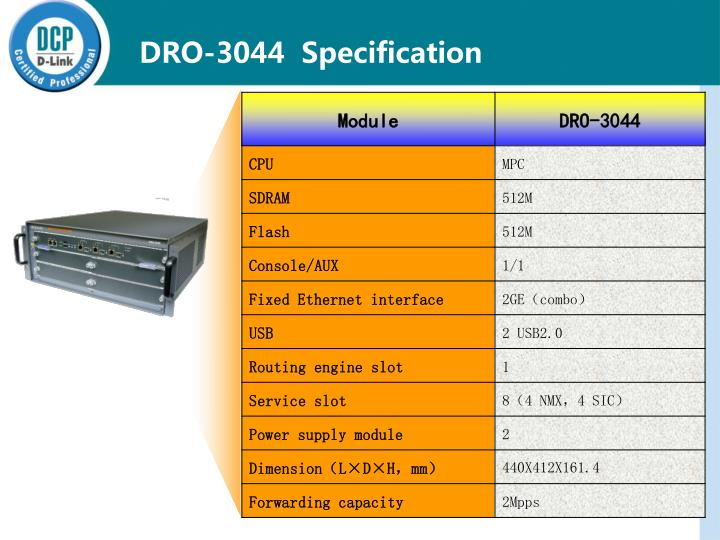 DRO-3044  Specification