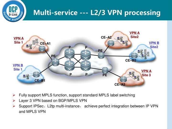 Multi-service --- L2/3 VPN processing