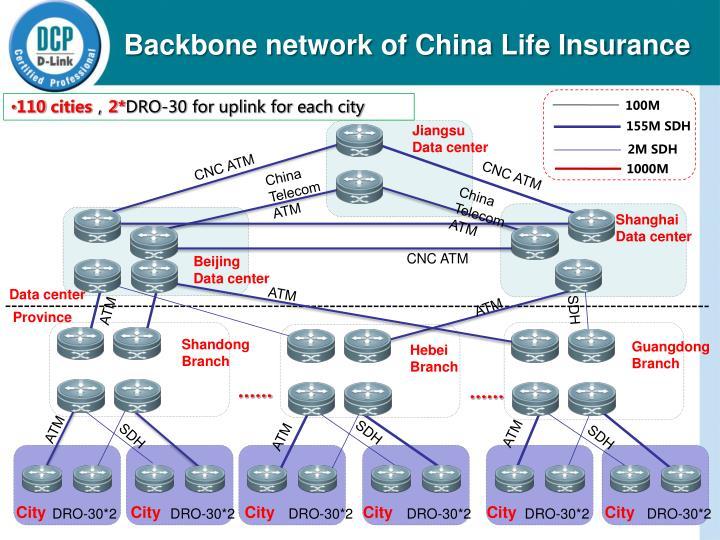 Backbone network of China Life Insurance