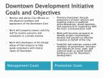 downtown development initiative goals and objectives1