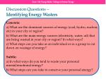 discussion questions identifying energy wasters