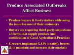 produce associated outbreaks affect business