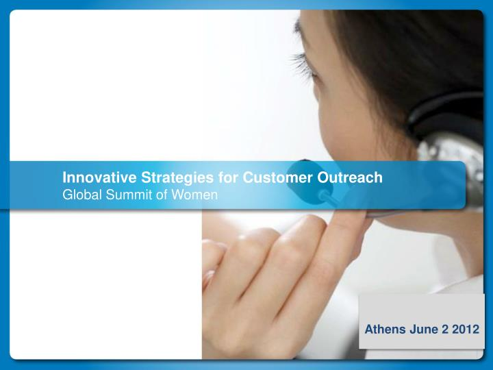 innovative strategies for customer outreach global summit of women n.