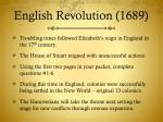 english revolution 1689