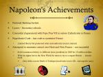 napoleon s achievements