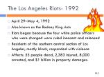 the los angeles riots 1992