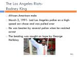 the los angeles riots rodney king