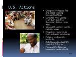 u s actions