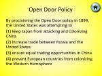 open door policy3