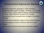 unrestricted submarine warfare5