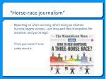 horse race journalism