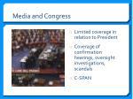 media and congress