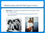 relationship with the fed l gov t cont1