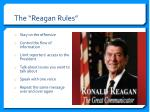 the reagan r ules