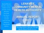 lenawee community mental health authority annual report 2011