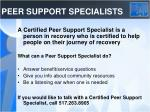 peer support specialists
