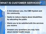 what is customer services