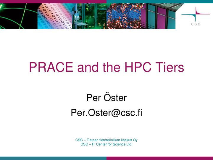 prace and the hpc tiers n.