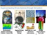 supercomputing drives science through simulation