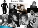 icons of 1920s