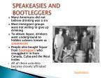speakeasies and bootleggers