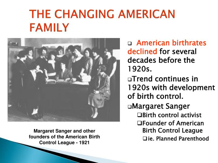 the changing american family n.
