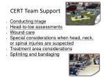 cert team support