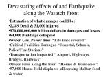 devastating effects of and earthquake along the wasatch front