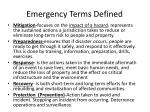 emergency terms defined
