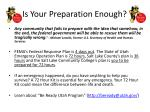 is your preparation enough