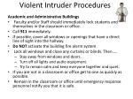 violent intruder procedures