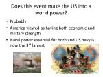does this event make the us into a world power