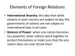 elements of foreign relations