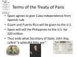terms of the treaty of paris