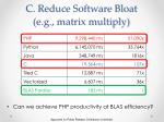 c reduce software bloat e g matrix multiply
