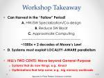 workshop takeaway