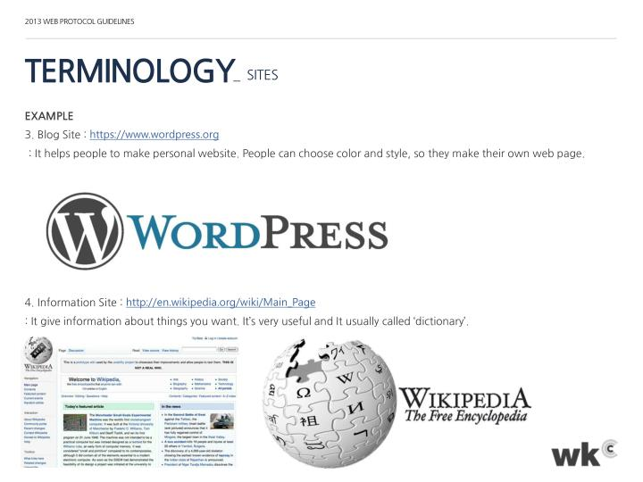 2013 WEB PROTOCOL GUIDELINES