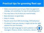 practical tips for greening fleet ops