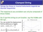 clamped string22