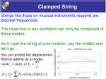 clamped string50