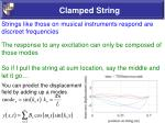 clamped string62