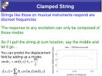 clamped string8