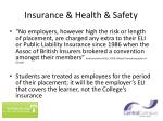 insurance health safety