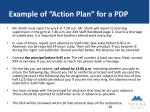 example of action plan for a pdp