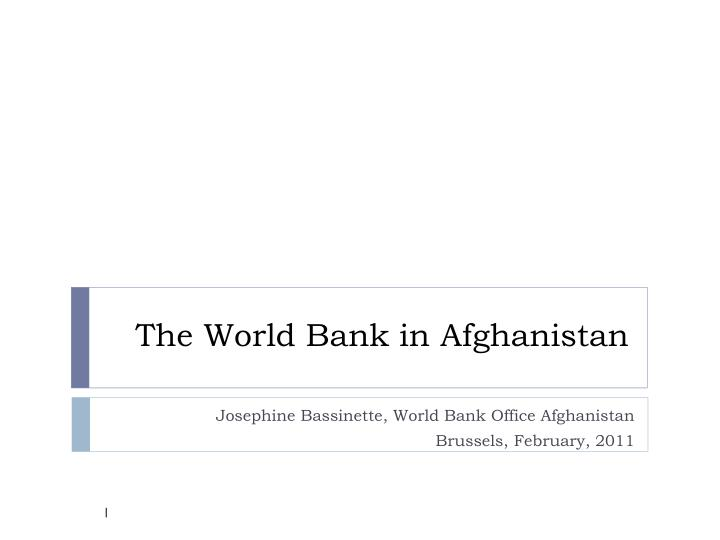 the world bank in afghanistan n.
