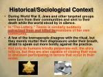 historical sociological context